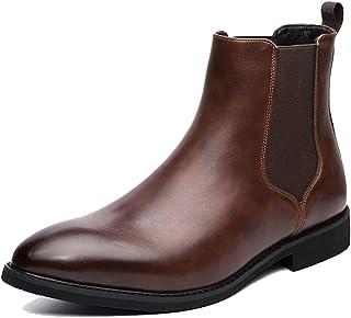 OROSUA Chelsea Boots pour Hommes élégant Bout Pointu léger sans Lacet Automne Hiver Bottines Classique Bureau Couleur Unie...