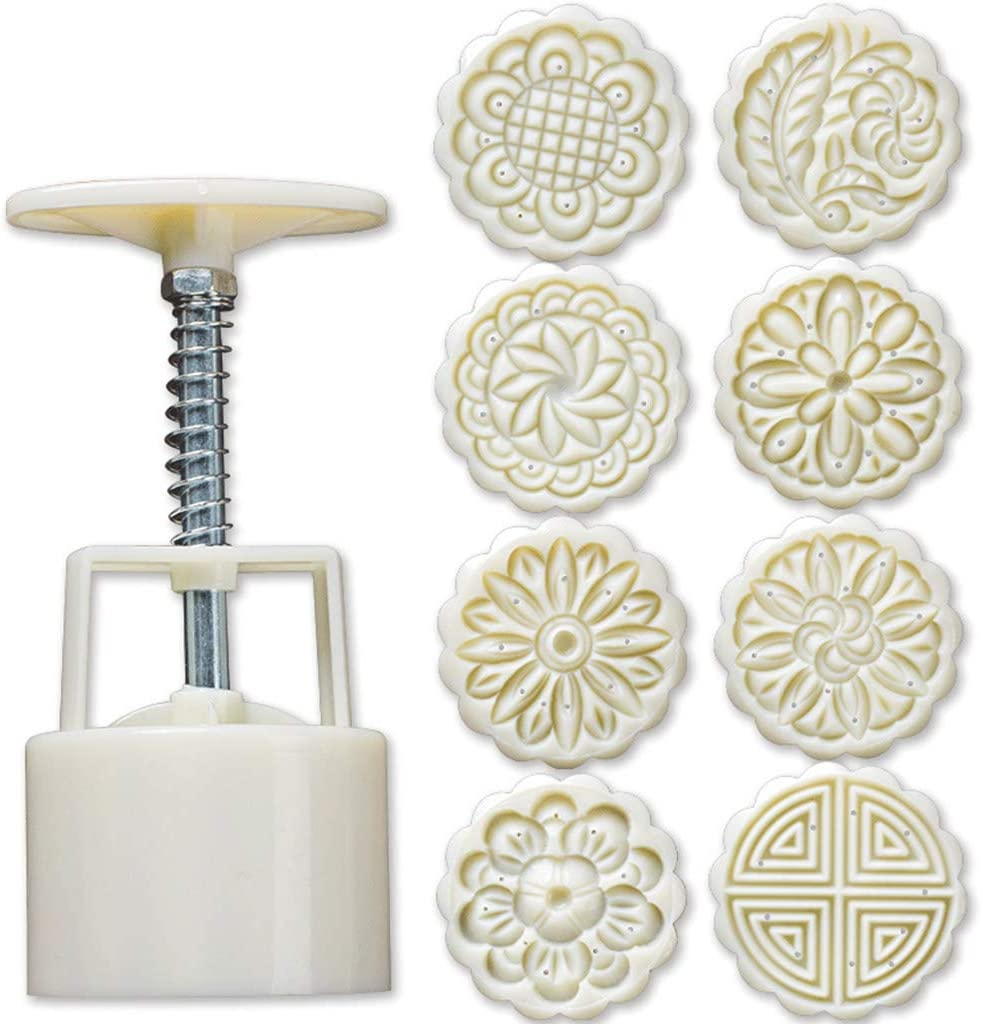 DENGNI 8pcs Hand Ranking TOP7 Press Cookie Cheap sale Stamp Decor Moon Mould Cake Barrel