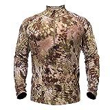 Kryptek Men's Merino Wool Baselayer Top, Highlander, Small