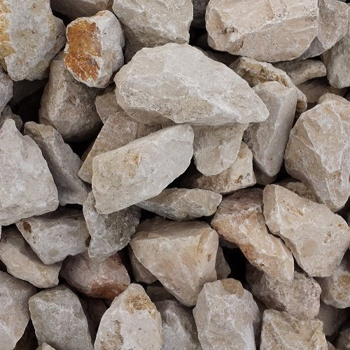 GABIONA Jura Natursteine Bruch I Gabionen Steine zum Befüllen für Gabionenkörbe für die individuelle Gartengestaltung I Sichtschutz aus Stein Zaunelemente Säulen Ø (45-56 mm, 250 KG)