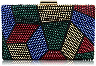 Yekajlin Clutches Bag for Women, Crystal Sparkly Evening Clutch Bag Rhinestone Glitter Clutch Purse