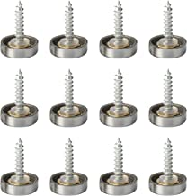 Autoly 12Pcs Stainless Steel Screw Cover Cap Nails 16mm Diameter Decorative Fasteners Hardware for Sign/Advertising, Mirro...