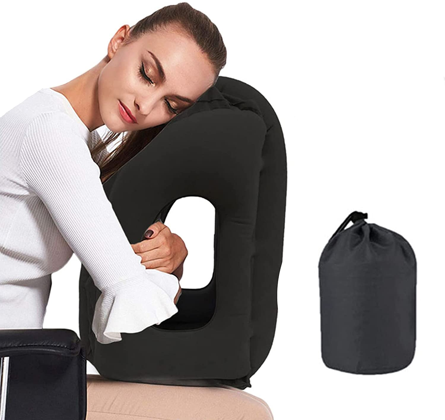 Cheap bargain Povinmos Inflatable Travel Pillow Portable Recommendation Camping Airplanes Te