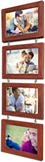Art Street Pearl Drop Fiber Hanging Photo Frame (5x7, Brown, Set of 4)