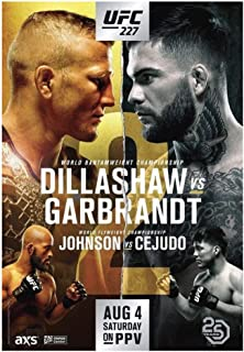 XuFan Dillashaw Vs Garbrandt 2 UFC 227 UFC MMA Fight Event Carteles e Impresiones Art Poster Canvas Painting Home Decor-20X28 Inch No Frame