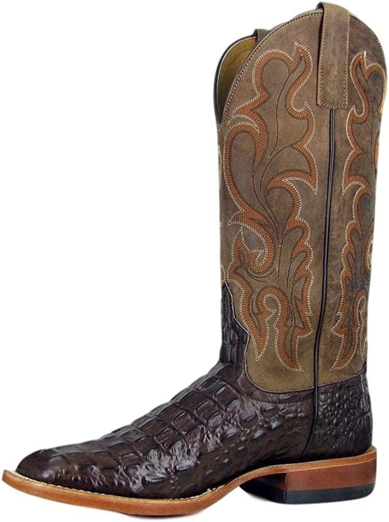 Horse Power Mens Patchwork Western Boot Square Toe Brown 10 EE US