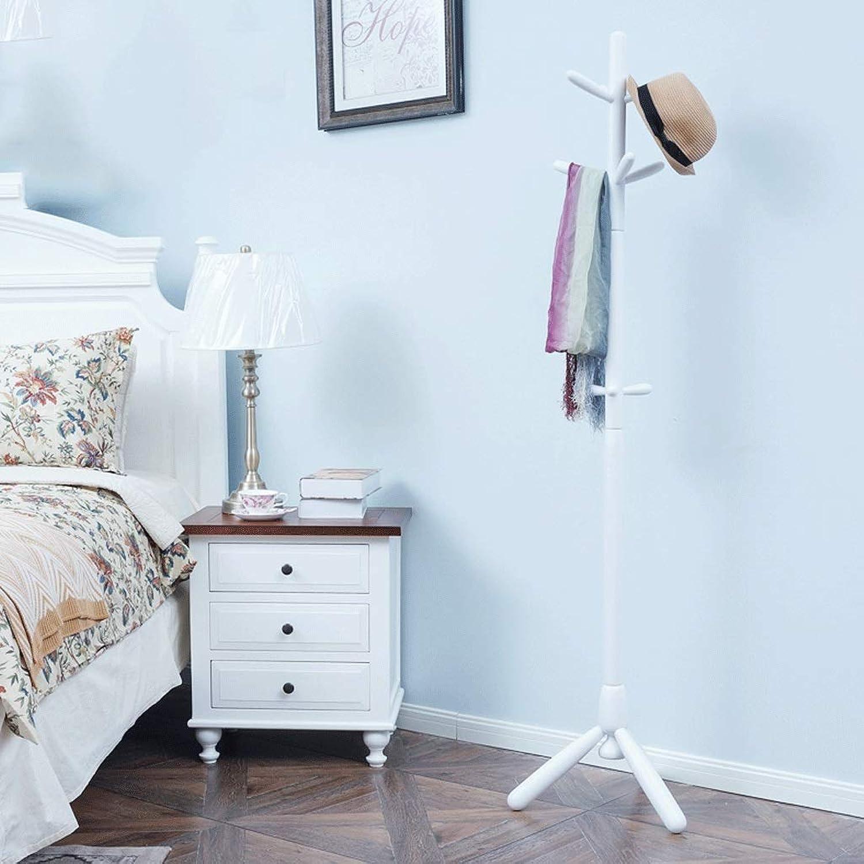 Hanger Single Pole Clothes Rack Modern Minimalist Bedroom Solid Wood Coat Rack Simple Nordic Living Room Floor-Standing Hanger (color   D)