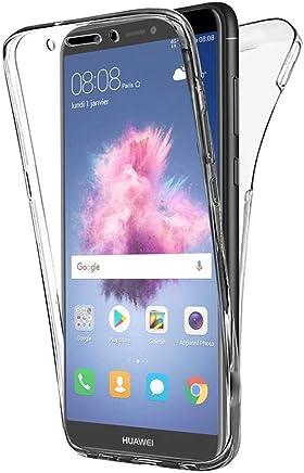 COPHONE® Coque 360 degrès Transparente en Gel Huawei P Smart Protection Integral et Invisible. Haute qualité