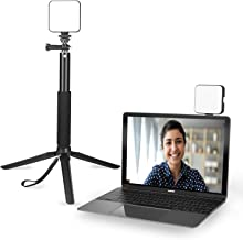 Light for Video Conferencing Stand | Video Conference Lighting Kit with Tripod - Cube Laptop Computer Webcam Light for Sel...
