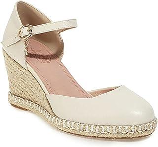 Generic2 Femmes Chaussures Talon compensé Mode Bout Rond Printemps été Peu Profond Usage Quotidien Style Urbain Chaussures...