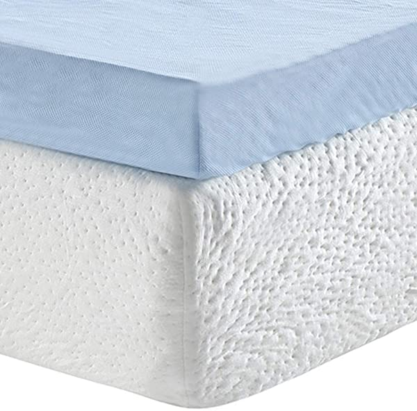 Classic Brands 3 Inch Cool Cloud Gel Memory Foam Mattress Topper With Free Cover King