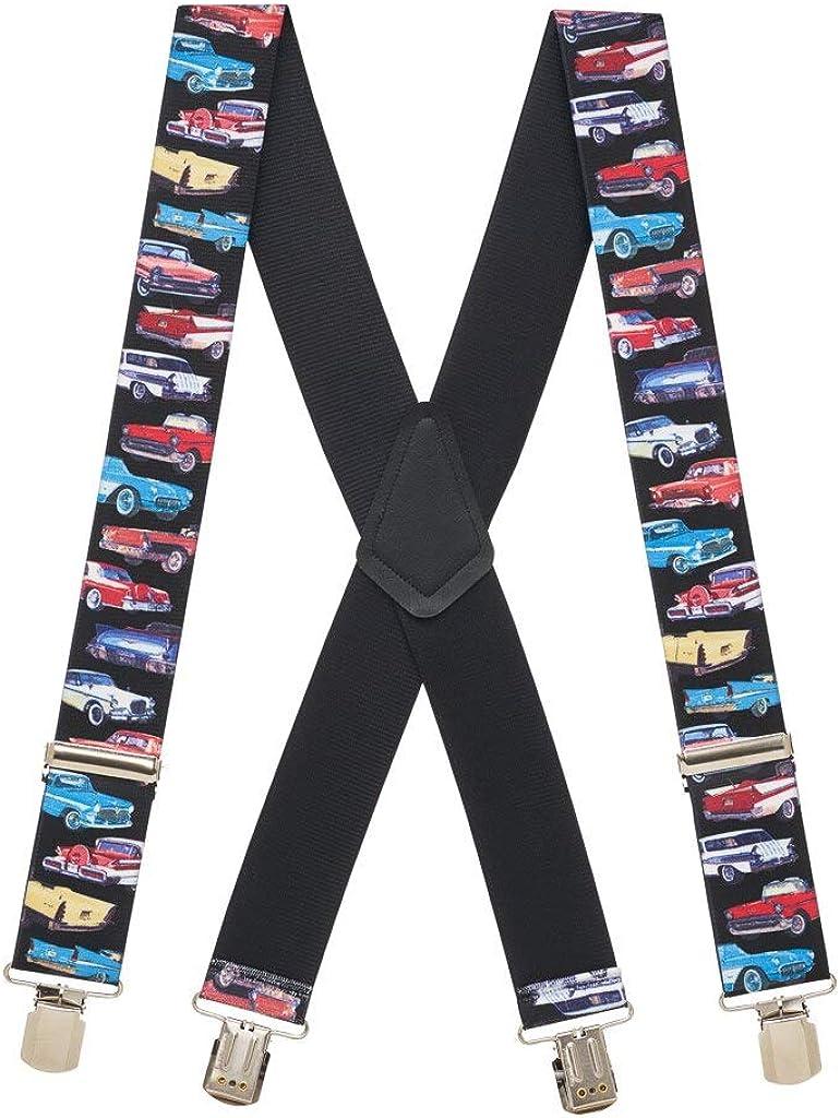 SuspenderStore Men's CLASS OF 57 2-Inch Wide Pin Clip Suspenders