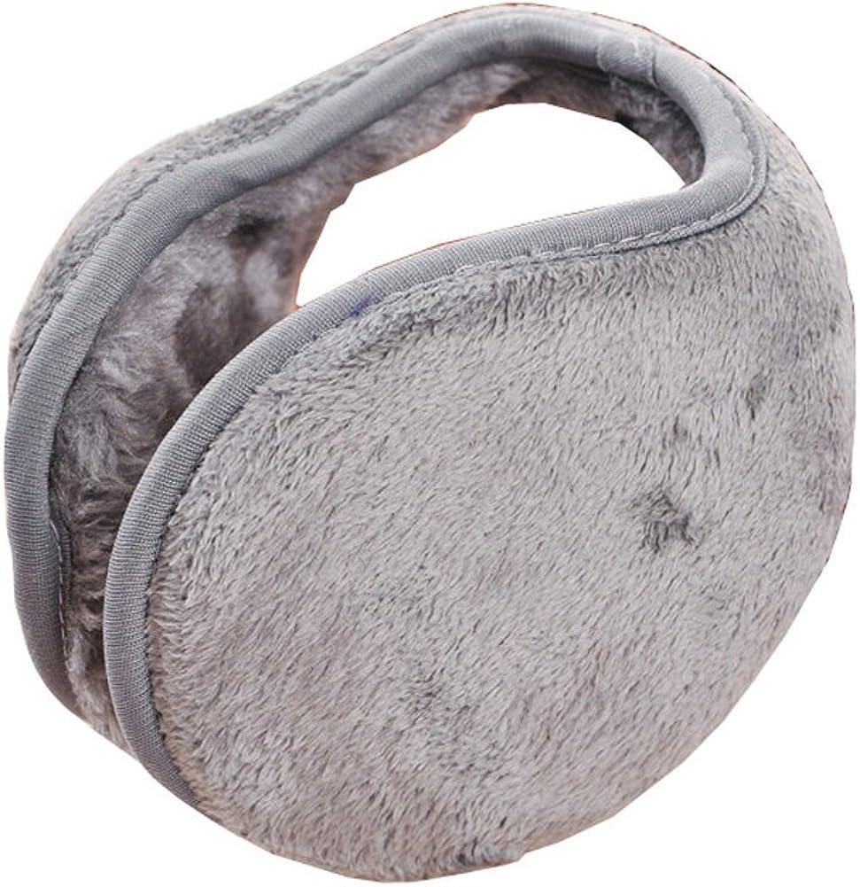 JIAHAO New Ladies Mens Black Earmuffs Winter Fleece Head Band Ear Muff Soft Warmers