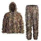 SCYLFEHDP Ghillie Suit, 3D Leafy Ghille Suit for Men,...