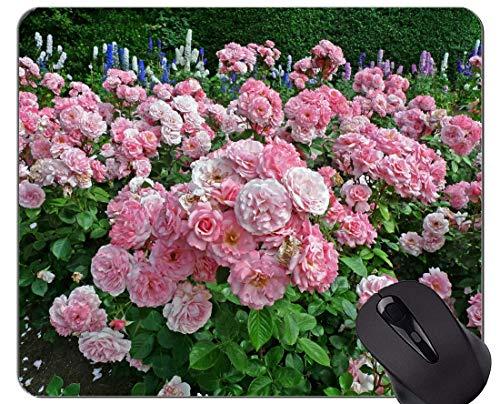 Mausunterlage Rutschfeste Naturkautschuk-Rechteck-Mausunterlagen, Natur, Rose, Blume - Genähte Ränder