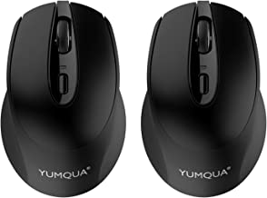 YUMQUA SB222-W Wireless Mouse 2 Pack, 2.4GHz Optical Silent Computer Mouse with Nano USB Receiver, 3 Adjustable DPI(Up to ...