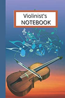 Violinist's Notebook: Perfect for violin students, teachers, orchestral directors, and string music lovers