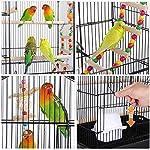 Yaheetech Cage à Oiseaux 46 x 35,5 x 99 cm avec 3 Jouets Poignée Portable 4 Mangeoires 3 Perchoirs Cage pour Perruche Calopsitte Conure Pinson Canaris #3