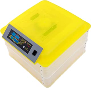 Digital Egg Incubator Fully Automatic Eggs Poultry Hatcher 112-Egg Temperature Control 2 Layer Clear Incubator for Hatching Chickens Ducks Quail Parrot Birds 7-122-Egg (112-Egg, Yellow)