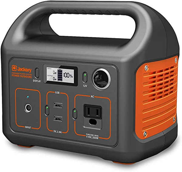 Jackery Portable Power Station Explorer 240 240Wh Backup Lithium Battery 110V 200W Pure Sine Wave AC Outlet Solar Generator Solar Panel Optional For Outdoors Camping Travel Hunting Emergency