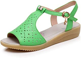 Surprise S Leather Women Sandals Fashion Summer Sweet Flats Heel Sandals Ladies Shoes