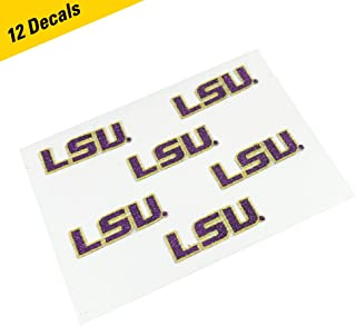 EyeBlack LSU Tigers Glitter Cheek Decals, Perfect for Game Day and Tailgate (12 Decals)