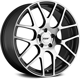 TSW NURBURGRING Grey Wheel with Painted Finish (18 x 8. inches /5 x 100 mm, 35 mm Offset)