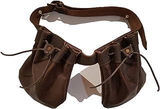 Bolsa de ojeo, Porta Cartuchos en Piel con cinturón.