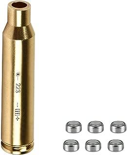 ADAFAZ Laser Bore Sight Cal Red Dot Laser Boresighter for 223 5.56mm Rem Gauge Caliber Pistols Rifles