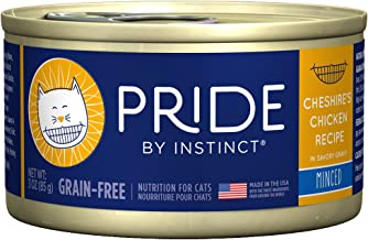 Pride by Instinct Grain Free Minced Cheshire's Chicken Recipe Natural Wet Canned Cat Food by Nature's Variety, 3 oz. cans (Case of 24)