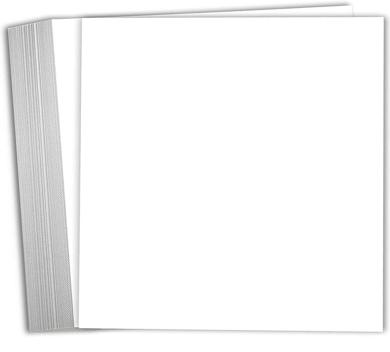 Hamilco 6x6 White Scrapbook Cardstock Paper 80lb Cover Card Stock 100 Pack