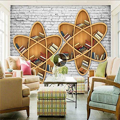 Cczxfcc behang in Europese stijl gepersonaliseerd houten behang wandplank wandplank voor het milieu dikke TV achtergrond muur 300 x 210 cm.