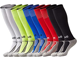 Youth Soccer Socks Boys Girls Knee High Cotton Athletic...