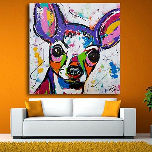 yaonuli DIY Malen nach Zahlen— Chihuahua Hund —Kits mit Pinseln und Acrylpigment—Kinder Erwachsene Anfänger—Rahmenlose Malerei30X30CM