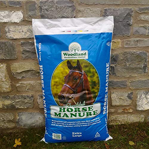 YouGarden Shredded Organic Horse Manure 60L Bag for Mulching