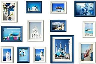 LONGWDS Marco de Fotos Madera sólida Foto decoración de la Pared 9 cuadrícula Marco de Fotos Pared combinación Marco de Fo...