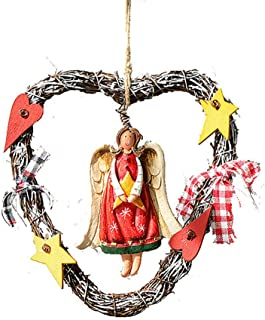 Fine Christmas Wreath for Front Door, Merry Christmas Wreath with Reindeer Snowman Santa Claus Wreaths for Home Kitchen Wall Window Hall Decor