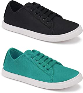 Axter Combo Pack of 2 Latest Collection Stylish Casual Loafer Sneakers Shoes for Women
