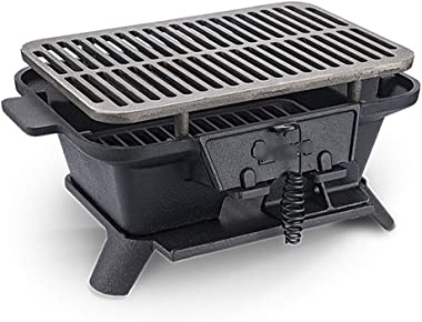 grill-burners Barbecue Grill Charcoal Portable BBQ Portable Barbecues Household Charcoal Wild Cast Iron Grill Thicken Outdoor