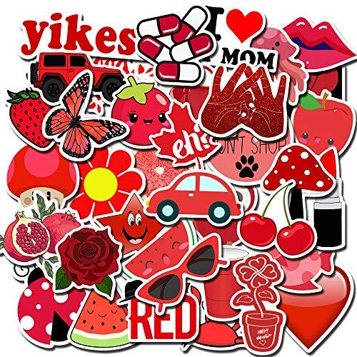 YYD Fruitsticker, 50 stuks, milieuvriendelijk UV-lak, waterdichte stickers voor het personaliseren van laptop, gitaar, skateboard, bagage graffiti-stickers