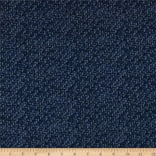 Tommy Bahama Outdoor Tampico Printed Texture Indigo Fabric Fabric by the Yard