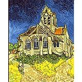 Kit De Pintura 5D Diy Pintura De Pasta De Pintura De Diamantes_Iglesia Van Gogh 30X40Cm_Diy Taladro Completo Adultos Niño Punto Cruz Cuadro Grande Puzzle Rhinestone Bordado Art Home Pared Decor