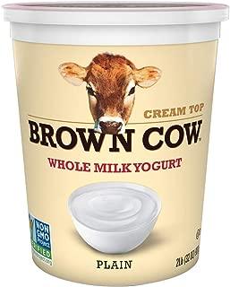 Brown Cow, Cream Top Plain Whole Milk Yogurt, 32 oz