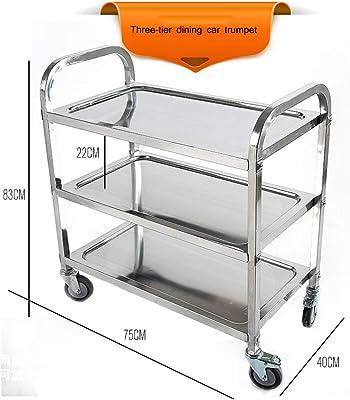 Amazon.com: Organizador de 3 niveles de acero inoxidable ...