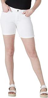 """Riders by Lee Indigo Women's Rolled Cuff Midrise Denim Short with 6"""" Inseam"""