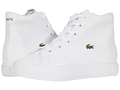 Lacoste Kids Gripshot Mid 0120 2 CUC (Little Kid) (White/White) Kid