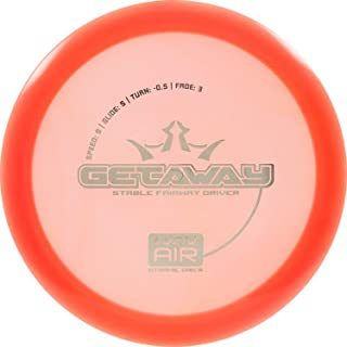 Dynamic Discs Lucid Air Getaway Disc Golf Driver | Frisbee Golf Fairway Driver | Stable Golf Disc | Stamp Colors Will Vary