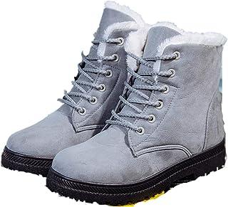 Jojsely56 Stivali da neve uomo inverno più velluto caldo scarpe da papà stivali casual in cotone comode scarpe in cotone c...