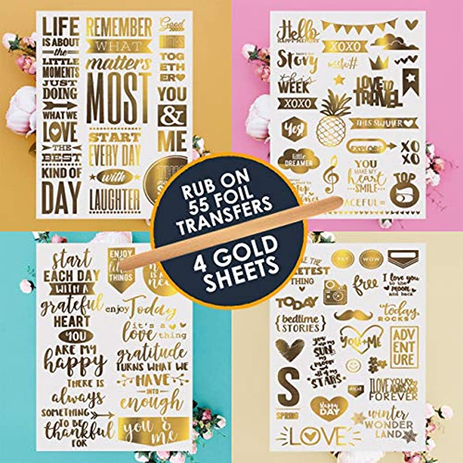 Gold Transfer Stickers | Love Stickers For Scrapbooking| Planner Stickers| Scrapbooking Stickers| Stickers for Laptops| Macbook Stickers| Cool Stickers| Inspirational & Motivational Foil Stickers!