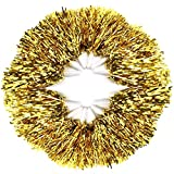 Nuluxi Pompones de Porristas Deportivos Juego de Animadoras Pompones Traje de Animadora Pompones Deportes Accesorios Adecuado para Escuadrones Jugadores Partidos Fiestas y Bailarines-12 Pcs (Dorado)